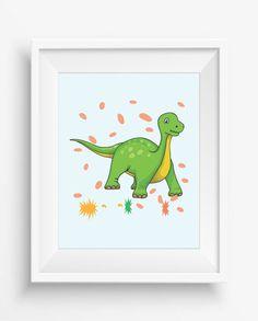 Dinosaur Print,Dinosaur Wall Decor,Dinosaur Art Retro,Nursery Decor,digital Prints,Playroom Decor,Fun Nursery Art,Baby Art Print,