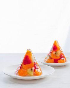 fruit gelatine cones