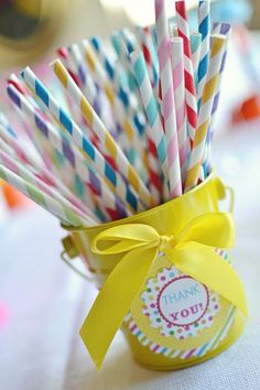 Rainbow party idea, do this with pixie sticks?