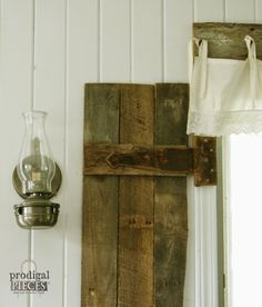 DIY Barn Wood Shutters From Repurposed Pallets By Prodigal Pieces  Http://www.