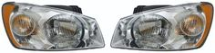2004 2005 2006 Kia Spectra LX Sedan 4Cyl 20L Headlight Headlamp Composite Halogen Front Head Light Lamp with Chrome Background Housing Bezel Set Pair Left Driver And Right Passenger Side 04 05 06 *** See this great product. (This is an affiliate link) #CarLights