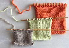 Näin korvaat neuleohjeessa ilmoitetun langan toisella Yarn Colors, Knitted Hats, Knitting Patterns, Knit Crochet, Stitch, Sewing, How To Make, Crafts, Handmade