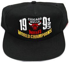 4bfef09832f Vintage Chicago Bulls 1993 World Champions Damaged Snapback