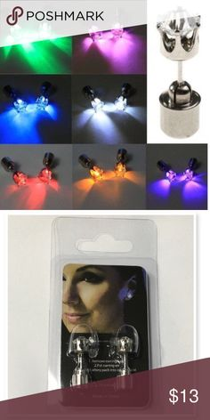 Led light up earrings!  White Led light up earrings perfect for parties, festivals, Fourth of July or anytime you want to be noticed! Jewelry Earrings