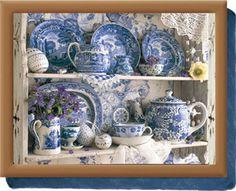 love blue and white china