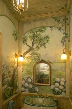 Eye For Design: Decorating Traditional, Old World Style Powder Rooms Cheap Rustic Decor, Cheap Home Decor, Old World Style, Dream Rooms, Home Decor Accessories, Interior Inspiration, Interior Ideas, Interior Design, Interior And Exterior