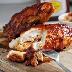 Super Moist bone-in skinless oven Baked BBQ Chicken   heatherlikesfood.com