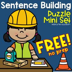 Sentence Building/ Kindergarten Reading/ Kindergarten Handwriting/ Puzzle/ August Activity/ Printables/ Worksheets/ Growing Bundle/ Free Sample/ No Prep Improve your student's reading and writing with this sentence building puzzle worksheets. Kindergarten Handwriting, Kindergarten Freebies, Kindergarten Literacy, Literacy Worksheets, Preschool, Handwriting Practice, Literacy Centers, First Grade Activities, Sight Word Activities