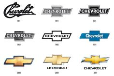 Chevy Logo History    Someday, I'll have one of these on my yellow corvette!!!