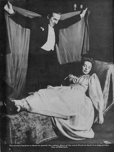 Bela Lugosi in a stage production of Dracula