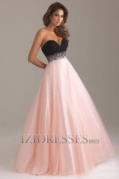 Probably too old for this but, I love it.  A-Line Princess Strapless Sweetheart Organza Evening Dresses - IZIDRESSES.COM