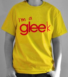 Glee t-shirt.  I'm gonna make this myself!!