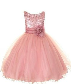 Pink Sequin Sparkle Flower Girl Dresses, Girls Dresses,Lace Dresses,Baby…
