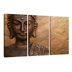 Cuadro en Lienzo 160 x 90 cm Nr. 1041 Buda enmarcado y listo para colgar, calidad de la marca Visario