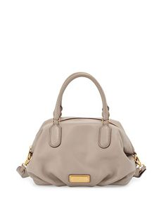 New Q Legend Satchel Bag, Cement by MARC by Marc Jacobs at Bergdorf Goodman.