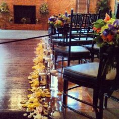 Aisle decorations @ the cork factory hotel