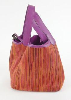 Hermes Vibrato Picotin Pm Handbag With Dustbag Purple & Orange Bag - Satchel $3,500