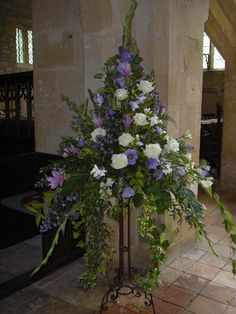 church pedestal flower arrangements - Google Search