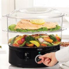 Recipes for electric steamer httpgeorgeforemanrecipes a steamer that makes healthy fish poultry shellfish veggies and even dumplings in no time flat forumfinder Image collections