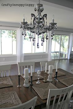 Dining Room Reveal at Crafty Scrappy Happy {must see the before and after!}
