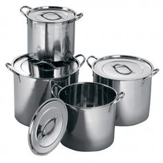 Universal Housewares Starcraft 4 Piece Stainless Steel Stock Pot with Lid Set Lodge Cast Iron Skillet, Pots, Kitchen Nightmares, Stainless Steel Pot, Steel Stock, Pot Sets, Kitchen Equipment, Cuisines Design, Cooking Tools