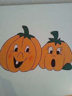 Fensterbild Tonkarton Kürbisfamilie Herbst Halloween Herbstdeko Dekoration • EUR…