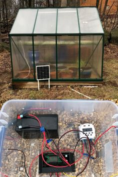 @seattlen8v (Instagram), Blue Ridge, Virginia: Finished the solar setup for hands free greenhouse irrigation from my rain barrels. 12v system with 20 amp solar panel and I wired in a 12v timer so I can set the desired irrigation time daily. Packed everything in a plastic container with air holes for better circulation. Purchased from Amazon. #palramgreenhouse #greenhouse #selfsufficient #growyourown #optout #solar #greenenergy #mountains #mountainlife #frontroyal #virginia #nerd #amazondeals Greenhouse Ideas, Greenhouse Gardening, Polycarbonate Greenhouse, Front Royal, Rain Barrels, Plastic Containers, Grow Your Own, Irrigation, Blue Ridge