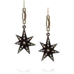 Lulu Frost Spark crystal star earrings ($180) ❤ liked on Polyvore