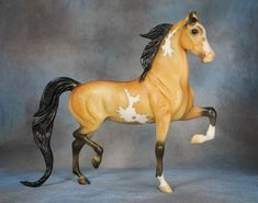 Breyerfest 2016 - Lot #20: Dapple Buckskin Pinto National Show Horse