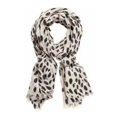 Yves Saint Laurent Leopard Print Wool And Cashmere-Blend Scarf: 100... found on Polyvore