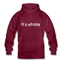 Schweizerdeutsch gesund - Fit und gfrässig#hoodie #schweizerdeutsch Bordeaux, Sweat Shirt, Statements, Shirts, My Love, Fitness, Sweaters, Polyester, Kangaroo Pouch