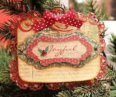 Inspiration photo, I love this colour combo. handmade christmas ornament card - Google Search