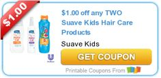 $1.00 off any TWO Suave Kids Hair Care Products
