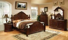 furniture of america ashburia english style bed queen warm cherry finish www