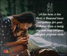 Birthday Love Quotes For Him: The Special Man In Your Life! Make your man feel special with your love on his birthday with our selection of the 20 best birthday love quotes for him! We're sure he'll be delighted. Birthday Quotes For Girlfriend, Happy Birthday Quotes For Him, Birthday Wishes For Lover, Romantic Birthday Wishes, Birthday Wish For Husband, Birthday Wishes For Boyfriend, Best Birthday Quotes, Girlfriend Quotes, Happy Birthday My Love