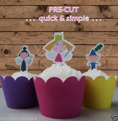 Ben-and-Holly-edible-wafer-stand-up-cupcake-cake-toppers-PRE-CUT