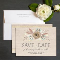 Rustic Boho Save The Date Cards | Elli
