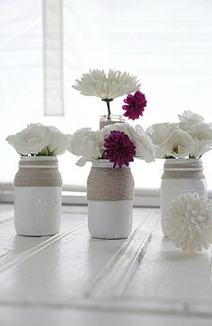 A Beach Cottage Coastal How to Paint Mason Jars Tutorial