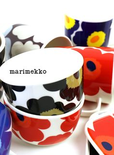 "marimekko(マリメッコ) 50周年記念 ウニッコ柄 ボウル 250ml ""UNIKKO 50th ANNIVERSARY BOWL""・5263166425 #marimekko Funky Furniture, Furniture Decor, Marimekko, Finland, Norway, Scandinavian, Tableware, Home Decor, Art"