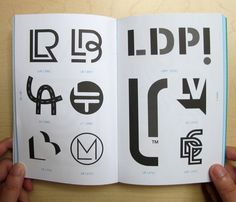 New book compiled and published by Counter- Print (UK), 'Monogram Logo', featured six logos that we designed. Lady Logo, Blog Logo, Monogram Logo, Monograms, Monogram