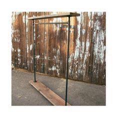 I Rack Single Shelf - Pipe and Wood Furniture - Garment Rack - Industrial - Clothes Rack - Clothing Rack