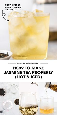 Jasmine Tea's signature floral aroma makes it a steadily popular tea to drink all year round! Learn 5 easy steps to make it the proper way - click to explore my tutorial. Hot Tea Recipes, Drink Recipes, Homemade Iced Tea, Caffeine Free Tea, Jasmine Tea, Chamomile Tea, Beverages, Drinks, Brewing Tea