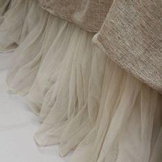 Whisper Ivory Petal Bed Skirt