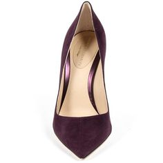 Andrew Charles Womens Pump Purple LINDA (12.385 RUB) ❤ liked on Polyvore featuring shoes, pumps, purple shoes, high heeled footwear, suede pumps, purple pumps and high heel court shoes