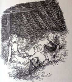 """drawn from life"" and ""drawn from memory"" E.H. Shepard - Pollard's Farm, Hay Loft"