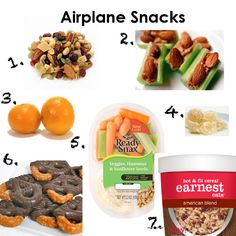 airplane snacks- what to pack to stay healthy on your next flight.  More tips on www.GlobalMunchkins.com