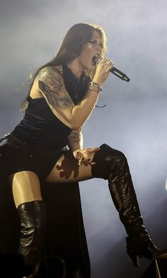 Nightwish-solisti Floor Jansen Rock in Riossa 2015. Kuva: ANTONIO LA CERDA.