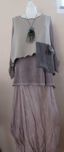 Tunika Pullover vokuhila lagenlook oversize Upcycling Dawanda Fee Hippie Goa   eBay upcycled sweatshirt