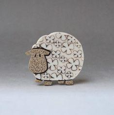Sheep brooch .... Baaaaa £12.00