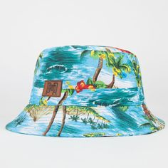 PREMIER FITS Tropical Palm Mens Bucket Hat 246870249 | Bucket Hats